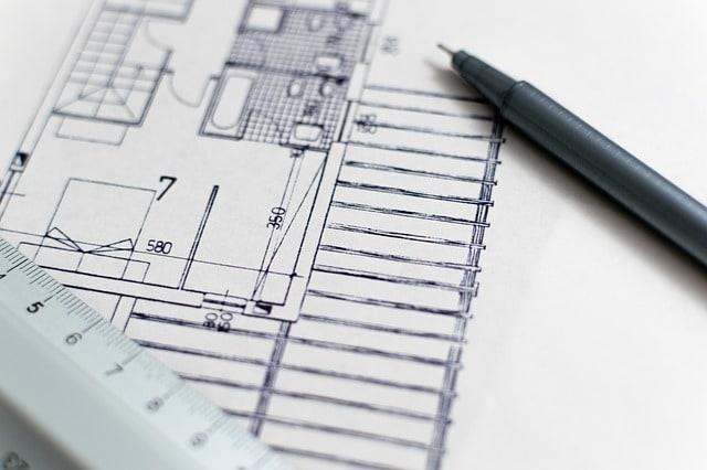 Planta baixa de um estabelecimento. Analogia com construção de site.